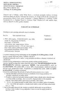 VOLKSWAGEN TIP 1200-SUDSKA PRODAJA-