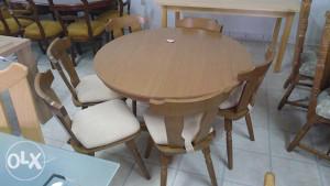 Stol i 6 stolica okrugli nop