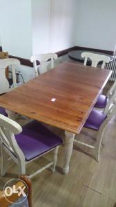 Stol i 6 stolica bijele ljub