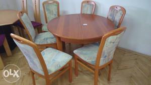 Stol i 6 stolica mahagoni