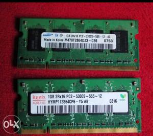 DDR 2 ZA LAPTOP ( 2 X 1 GB )
