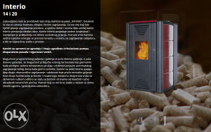 Kamin na pelet INTERIO 14 kW crveni THERMOFLUX