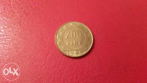 METALNA KOVANICA ITALIJA 200.LIRA.1995.GOD.