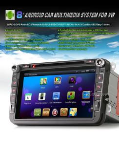 """Autoradio 8"""" DVD GPS WiFi 3G SEAT VW GOLF 5 6 ŠKODA"""