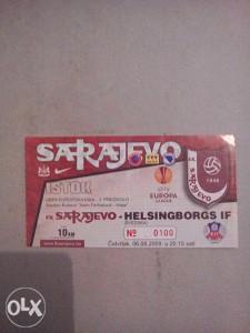 Ulaznica FK SARAJEVO-HELSINGBORGS IF