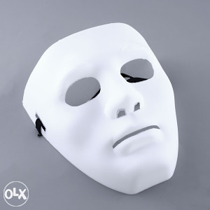 Maska za maskiranje scary halloween BIJELA