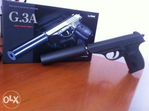 Airsoft pištolj sa prigušivačem,FULL METAL,Galaxy, G3A