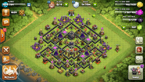 Clash of clans acc coc th9 max