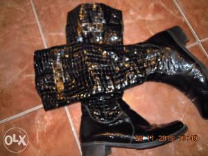 prava kroko koza lak prelijepe cizme