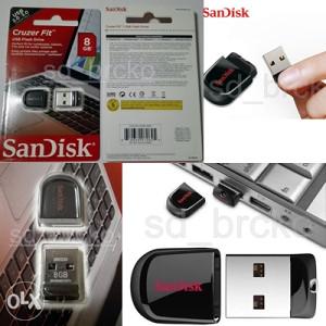 8GB USB stick Flash Drive SanDisk Cruzer Fit 8 GB