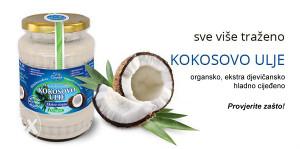 Kokosovo ulje organsko ekstra djevičansko