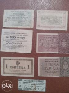 Razni bonovi i novcanice