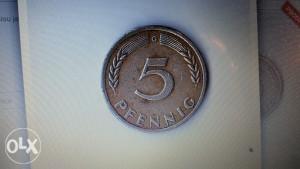 Njemačka 5 fennig 1949 G