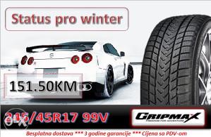 245 45 17 99V GRIPMAX Status pro winter R17
