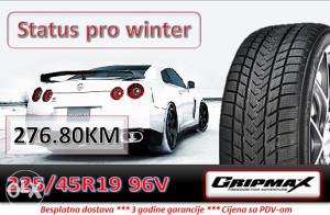 225 45 19 96V GRIPMAX Status pro winter R19