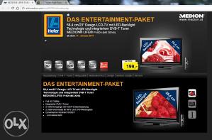 led tv 23 incha Medion full hd