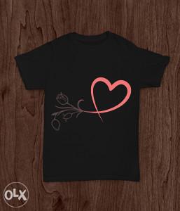 SuperMajice   OSTALO   Srce i Ruža majica