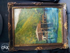 Slika ulje na platnu s potpisom slikarke Sonje