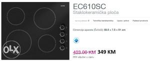 Gorenje staklokeramička ploča EC610SC