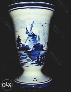 Delft Blau vaza, antikvarni porculan (2)