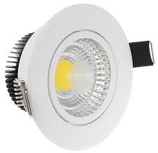 LED COB 5W bijeli 6400K ugradni