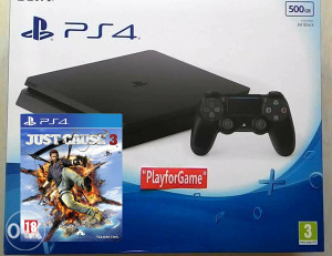 PlayStation 4 (PS4) 500GB - SLIM + JUST CAUSE 3