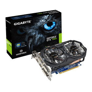GeForce GTX750 Ti 2GB GDDR5 - Gigabyte Overclocked
