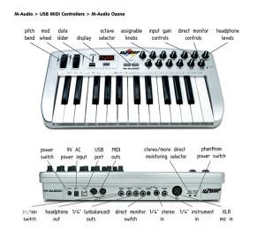 M Audio Ozone midi kontroler
