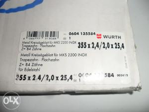 Wurth vidija rezna ploča za inox 355x25,4