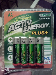 Punjive NiMh AA i AAA baterije, 1,2V, 2500 mA (Eneloop)