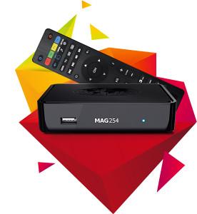MAG 254 IPTV RESIVER