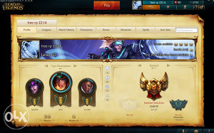 EUW LOL gold acc up up