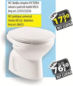 WC poklopac univerzal Toledo BELLO, Bakelitni