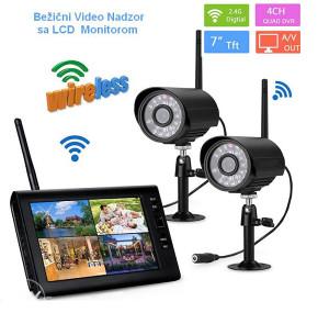"Video Nadzor  WIFI sa 2 kamere + LCD Monitor 7"""
