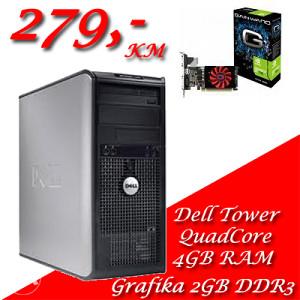 DELL 755 TOWER QuadCore Q6600 4x2,4GHz