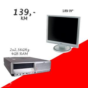 HP 7700 SFF 2X2,5 GHz/ 4 GB RAM LCD 19 inch