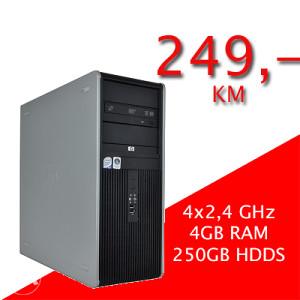 HP 7800 TOWER 4x2,4GHz/ 4GB RAM / 250GB HDD S/ DVD