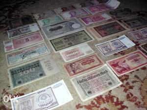 Lot 26 različitih novčanica