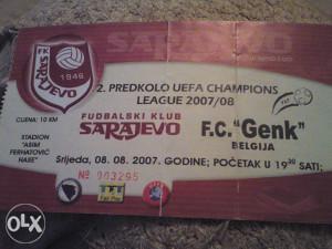 sarajevo-genk 8.8.2007