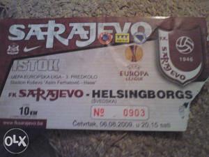 SARAJEVO-HELSINGBORGS 6.8.2009