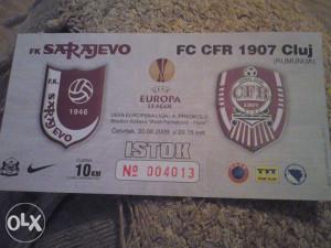 SARAJEVO-FC CFR1907CLUJ 20.8.2009