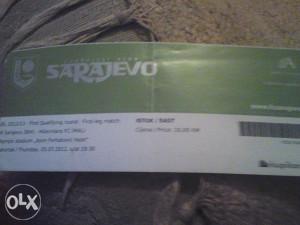 SARAJEVO-HIBERNIANS 5.7.2012