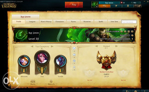 EUW LOL GOLD with Legendary SKIN