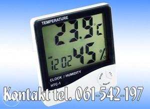 LCD digitalni termometar vlagomjer sat sa alarmom