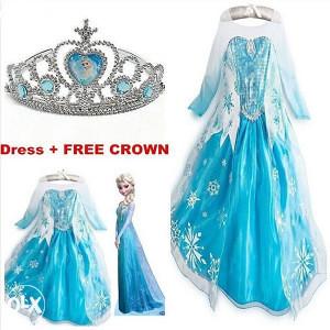 Elsa frozen haljina plus kruna gratis