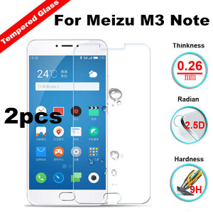 2x Meizu M3 Note Meilan Note 3 Tempered Glass