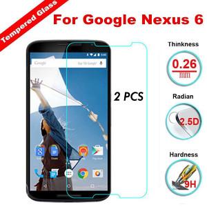 2X  Motorola Google Nexus 6 Tempered Glass