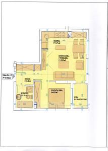 nov dvosoban stan 43 m2 / Kočićev Vijenac