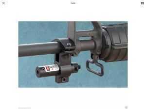 Laser s nosacem za cijev puske