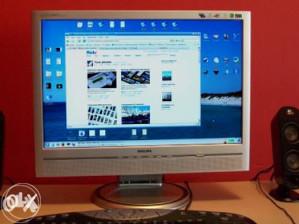 "Philips 20""lcd monitor vga/dvi/integ zvucnici"